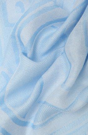 Женский шарф BURBERRY голубого цвета, арт. 8039437 | Фото 2