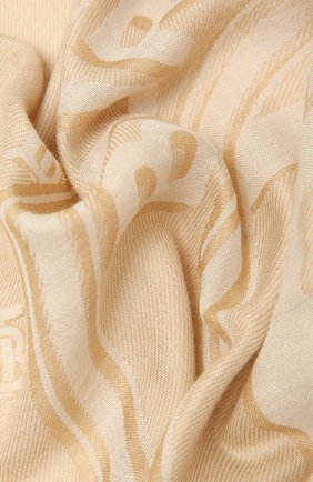 Женский шарф BURBERRY бежевого цвета, арт. 8039435 | Фото 2