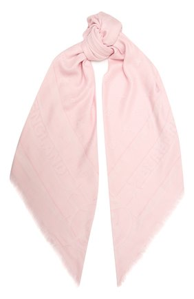 Женский шарф BURBERRY розового цвета, арт. 8039434 | Фото 1