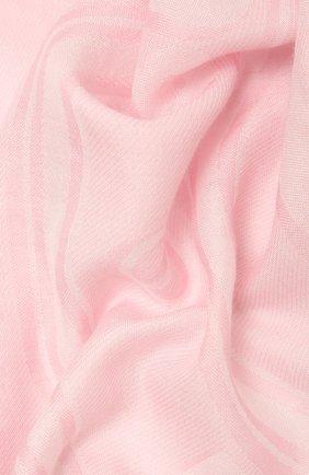 Женский шарф BURBERRY розового цвета, арт. 8039434 | Фото 2