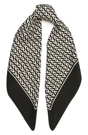 Женский шелковый платок  VALENTINO черно-белого цвета, арт. WW2EI114/TXR | Фото 1