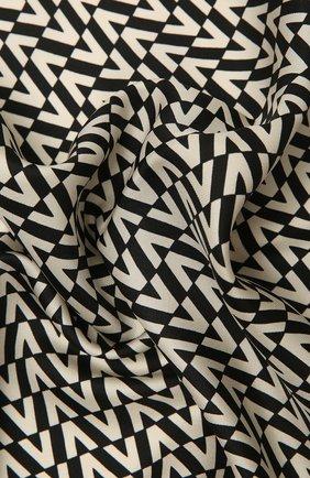 Женский шелковый платок  VALENTINO черно-белого цвета, арт. WW2EI114/TXR | Фото 2