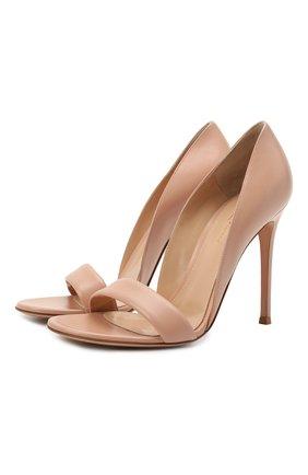 Женские кожаные туфли baiser GIANVITO ROSSI бежевого цвета, арт. G61686.15RIC.NAPPEAH | Фото 1