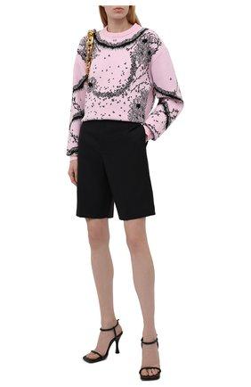 Женский пуловер из вискозы и шерсти GIVENCHY розового цвета, арт. BW90DA4ZAD | Фото 2