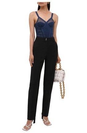 Женские шерстяные брюки GIVENCHY черного цвета, арт. BW50QQ13QB | Фото 2