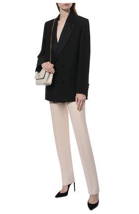 Женские шерстяные брюки GIVENCHY розового цвета, арт. BW50Q613N5 | Фото 2