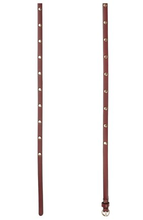 Женский кожаный ремень REDVALENTINO бордового цвета, арт. WQ2T0B43/BDW | Фото 2