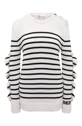 Женский пуловер REDVALENTINO черно-белого цвета, арт. WR3KC08N/63Q   Фото 1