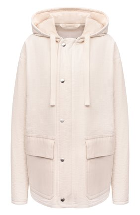 Женская хлопковая куртка JIL SANDER белого цвета, арт. JPPT410417-WT243014A   Фото 1