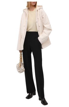 Женская хлопковая куртка JIL SANDER белого цвета, арт. JPPT410417-WT243014A   Фото 2