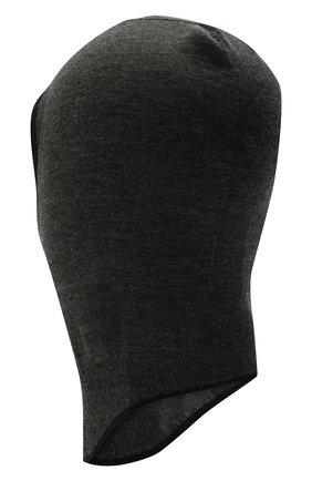 Женская шапка-балаклава JIL SANDER серого цвета, арт. JPPT764504-WTY21288   Фото 2 (Материал: Шерсть)