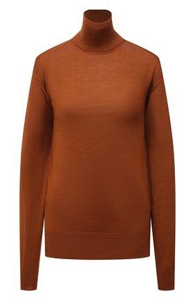 Женская водолазка JIL SANDER коричневого цвета, арт. JSCT754040-WTY11018 | Фото 1 (Материал внешний: Шерсть, Шелк, Кашемир; Рукава: Длинные; Длина (для топов): Стандартные; Стили: Кэжуэл; Женское Кросс-КТ: Водолазка-одежда)