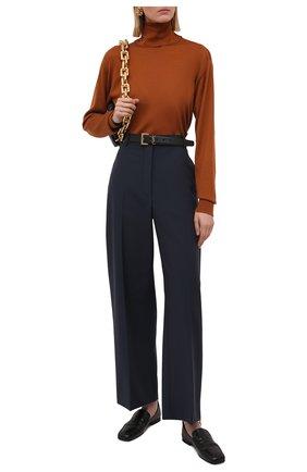Женская водолазка JIL SANDER коричневого цвета, арт. JSCT754040-WTY11018 | Фото 2 (Материал внешний: Шерсть, Шелк, Кашемир; Рукава: Длинные; Длина (для топов): Стандартные; Стили: Кэжуэл; Женское Кросс-КТ: Водолазка-одежда)