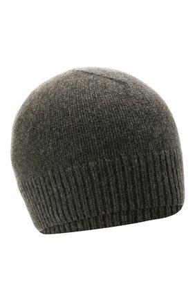 Женская кашемировая шапка JIL SANDER темно-серого цвета, арт. JSPT762019-WTY11048   Фото 1 (Материал: Шерсть, Кашемир)