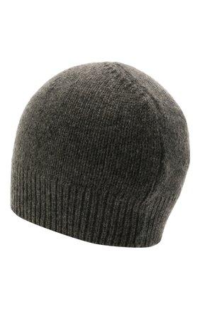 Женская кашемировая шапка JIL SANDER темно-серого цвета, арт. JSPT762019-WTY11048   Фото 2 (Материал: Шерсть, Кашемир)