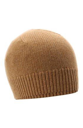 Женская кашемировая шапка JIL SANDER бежевого цвета, арт. JSPT762019-WTY11048 | Фото 1 (Материал: Кашемир, Шерсть)