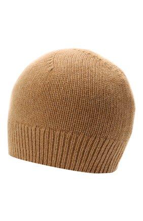 Женская кашемировая шапка JIL SANDER бежевого цвета, арт. JSPT762019-WTY11048 | Фото 2 (Материал: Кашемир, Шерсть)