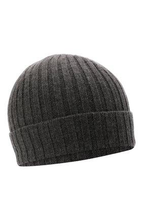 Женская шерстяная шапка JIL SANDER темно-серого цвета, арт. JSPT762054-WTY20408   Фото 1 (Материал: Шерсть)