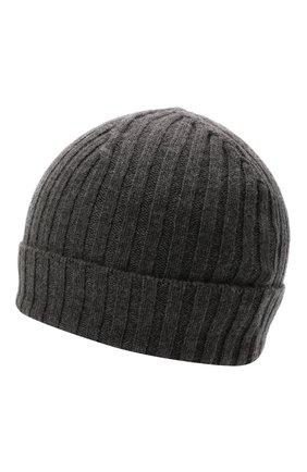 Женская шерстяная шапка JIL SANDER темно-серого цвета, арт. JSPT762054-WTY20408   Фото 2 (Материал: Шерсть)