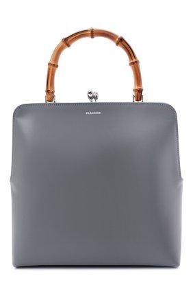 Женская сумка goji JIL SANDER серого цвета, арт. JSPT851577-WTB00083N   Фото 1 (Материал: Натуральная кожа; Сумки-технические: Сумки top-handle; Размер: medium)