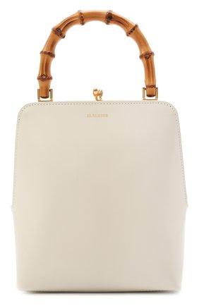 Женская сумка goji JIL SANDER кремвого цвета, арт. JSPT851578-WTB00080N | Фото 1 (Материал: Натуральная кожа; Сумки-технические: Сумки top-handle; Размер: mini, medium)