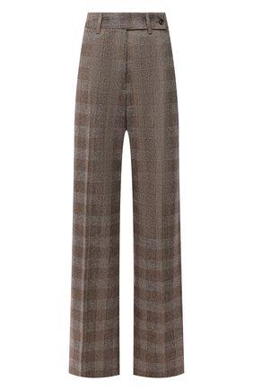 Женские брюки из шерсти и кашемира KITON бежевого цвета, арт. D48109K0512A   Фото 1