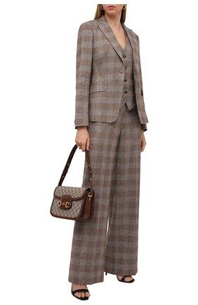 Женские брюки из шерсти и кашемира KITON бежевого цвета, арт. D48109K0512A   Фото 2