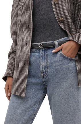 Женский кожаный ремень anagram LOEWE темно-серого цвета, арт. E619238X02 | Фото 2