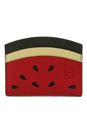 Женский кожаный футляр для кредитных карт loewe x paula's ibiza LOEWE красного цвета, арт. C643R91X03 | Фото 1