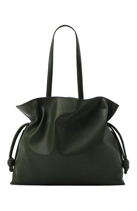 Женский сумка flamenco xl LOEWE хаки цвета, арт. A411X12X02 | Фото 1 (Материал: Натуральная кожа; Сумки-технические: Сумки-шопперы; Размер: large)