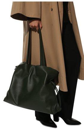 Женский сумка flamenco xl LOEWE хаки цвета, арт. A411X12X02 | Фото 2 (Материал: Натуральная кожа; Сумки-технические: Сумки-шопперы; Размер: large)