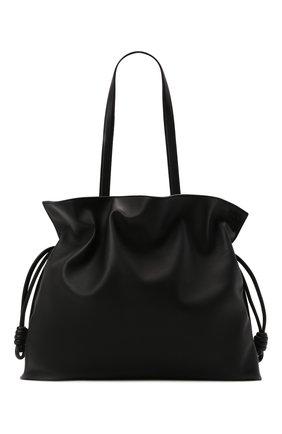Женский сумка flamenco xl LOEWE черного цвета, арт. A411X12X02   Фото 1 (Материал: Натуральная кожа; Сумки-технические: Сумки-шопперы; Размер: large)