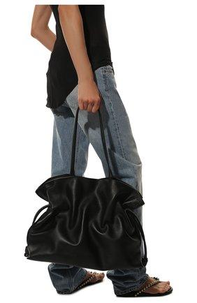 Женский сумка flamenco xl LOEWE черного цвета, арт. A411X12X02   Фото 2 (Материал: Натуральная кожа; Сумки-технические: Сумки-шопперы; Размер: large)