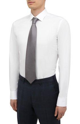 Мужская хлопковая сорочка BOSS белого цвета, арт. 50454029   Фото 4