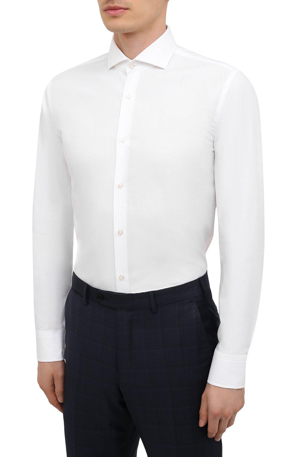 Мужская сорочка BOSS белого цвета, арт. 50454060   Фото 3