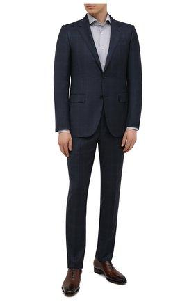 Мужская сорочка BOSS серого цвета, арт. 50451156 | Фото 2 (Материал внешний: Лиоцелл, Хлопок; Длина (для топов): Стандартные; Случай: Формальный; Воротник: Кент; Рукава: Длинные; Стили: Классический; Рубашки М: Slim Fit; Принт: Клетка; Манжеты: На пуговицах)