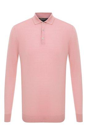 Мужское поло из шерсти викуньи LORO PIANA розового цвета, арт. FAL6623/VVIC | Фото 1