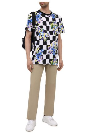 Мужская хлопковая футболка OFF-WHITE черно-белого цвета, арт. 0MAA027S21JER026   Фото 2