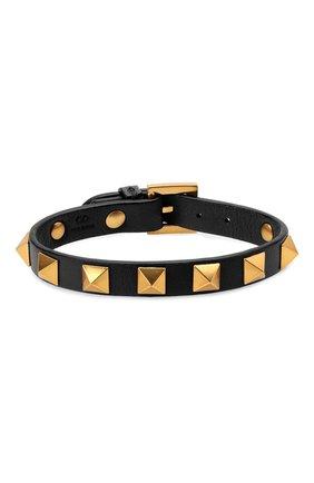 Мужской кожаный браслет VALENTINO черного цвета, арт. WY2J0801/LKT | Фото 1
