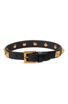 Мужской кожаный браслет VALENTINO черного цвета, арт. WY2J0801/LKT | Фото 2