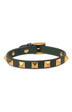 Мужской кожаный браслет VALENTINO зеленого цвета, арт. WY2J0801/LKT | Фото 1