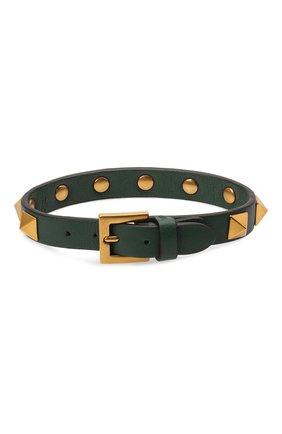 Мужской кожаный браслет VALENTINO зеленого цвета, арт. WY2J0801/LKT | Фото 2
