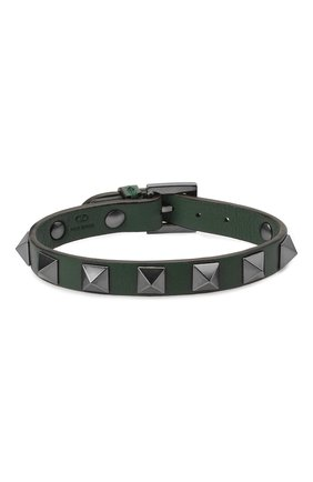 Мужской кожаный браслет VALENTINO зеленого цвета, арт. WY2J0801/VH3 | Фото 1