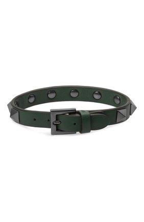 Мужской кожаный браслет VALENTINO зеленого цвета, арт. WY2J0801/VH3 | Фото 2