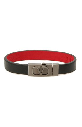 Мужской кожаный браслет VALENTINO черного цвета, арт. WY2J0N86/TCZ | Фото 1