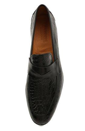 Мужские пенни-лоферы из кожи каймана MAGNANNI черного цвета, арт. 23258/C0C0ARCADE/CYAC | Фото 5 (Мужское Кросс-КТ: Лоферы-обувь; Материал внутренний: Натуральная кожа; Стили: Классический; Материал внешний: Экзотическая кожа)