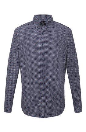 Мужская хлопковая рубашка PAUL&SHARK синего цвета, арт. 11313118/C00 | Фото 1