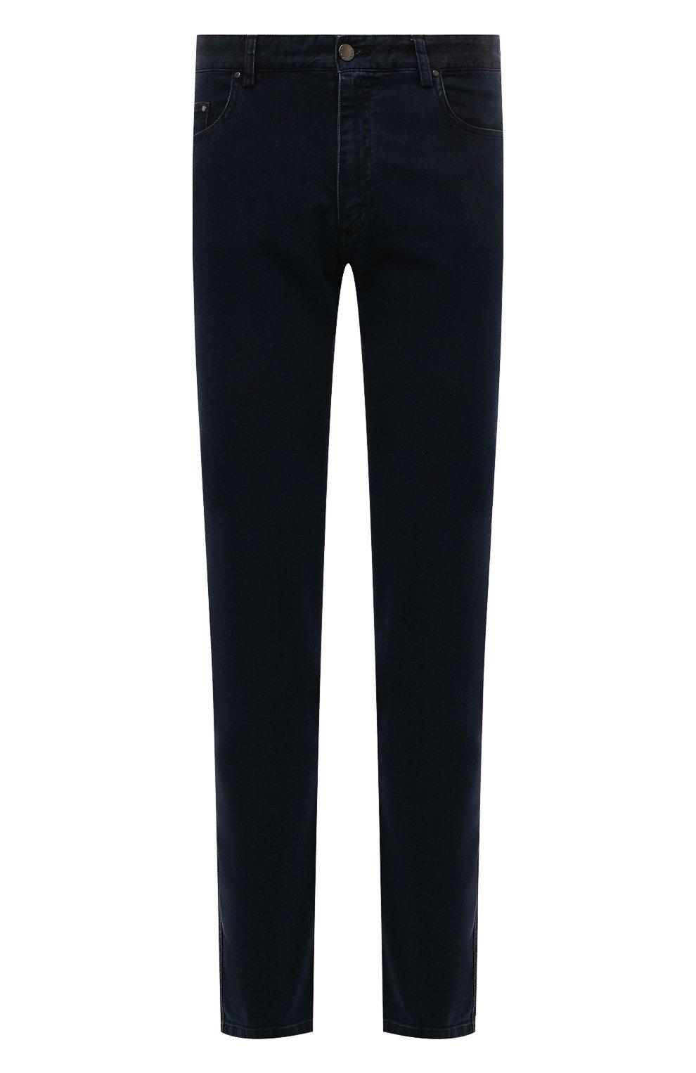 Мужские джинсы PAUL&SHARK темно-синего цвета, арт. C0P4009R/DUI   Фото 1