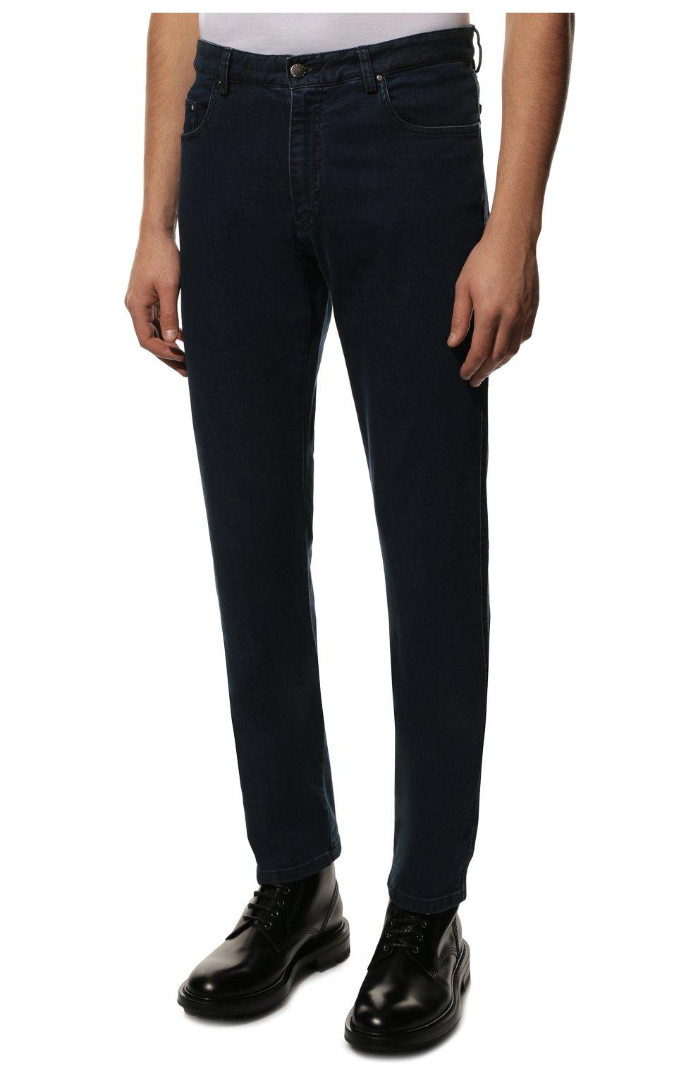 Мужские джинсы PAUL&SHARK темно-синего цвета, арт. C0P4009R/DUI   Фото 3