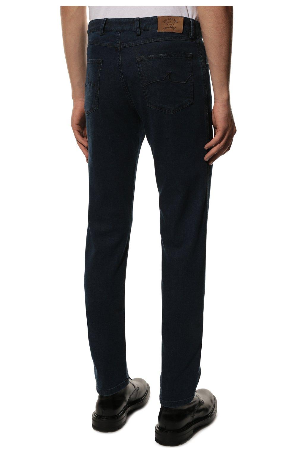 Мужские джинсы PAUL&SHARK темно-синего цвета, арт. C0P4009R/DUI   Фото 4